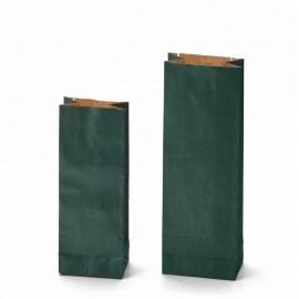 Dvojvrstvový papierový sáčok Kraft zelený