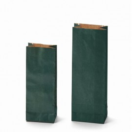 Two layer bags Kraft green color