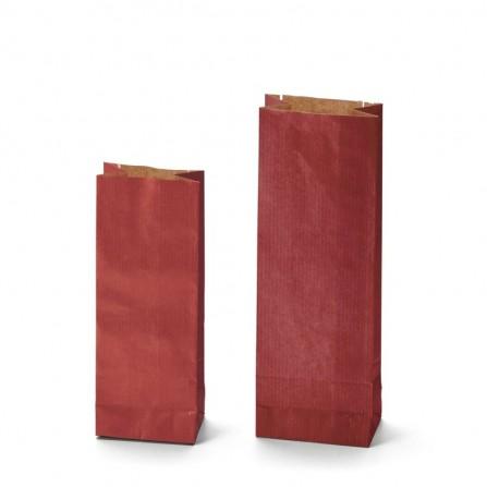 Dvojvrstvový papierový sáčok Kraft červený