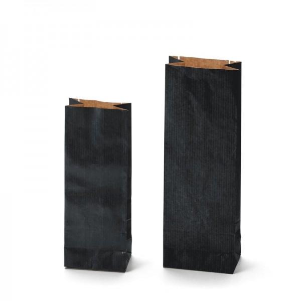 Dvojvrstvový papierový sáčok Kraft čierny