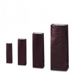 Trojvrstvové vrecko hnedej farby