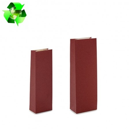 Grass paper bags bordeaux color