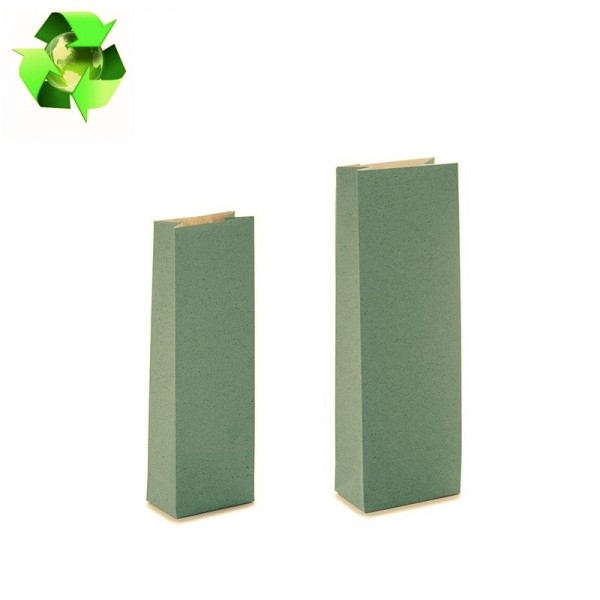 Grass paper bags green color