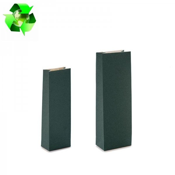Grass paper bags dark green color