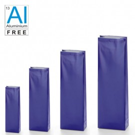 Block bottom bags classic glossy look - BLUE