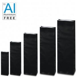 Block bottom bags classic glossy look - BLACK