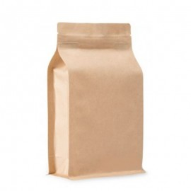 BP brown KRAFT bag with ZIP
