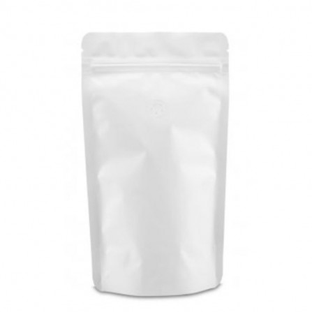 Doypack ZIP vrecko biele matné s ventilom
