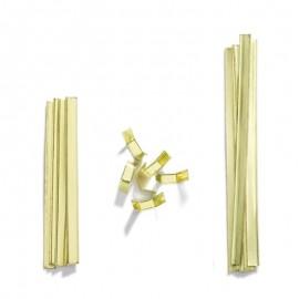 Uzatváracie lišty na sáčky zlatej farby