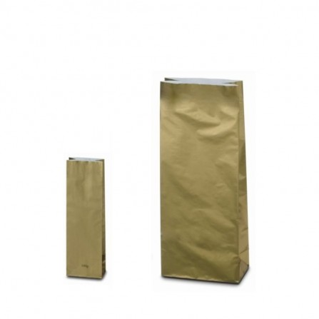 Three layer bag gold color 100g and 1 kg