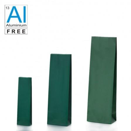 Vrecká s dnom v bloku zelenej farby matné