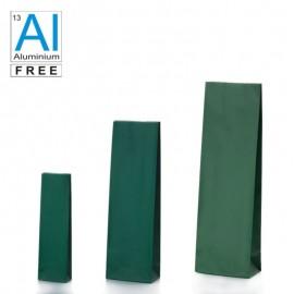 Block bottom bags matt green