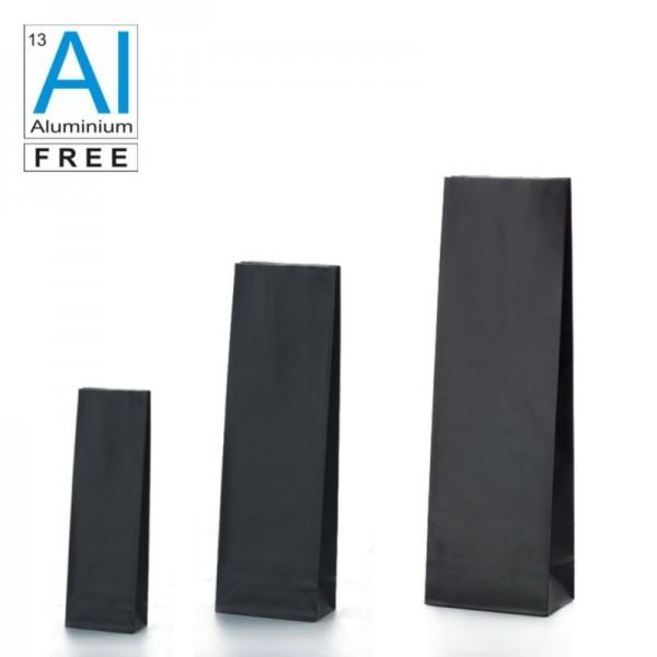 Block bottom bags matt black