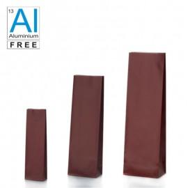 Vrecká s dnom v bloku červenej farby matné