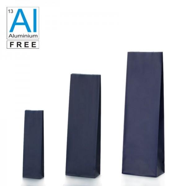 Block bottom bags matt blue