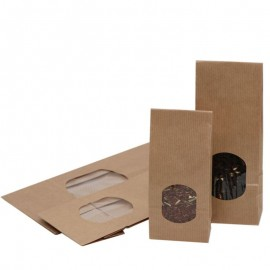 Paper bags Natural with window