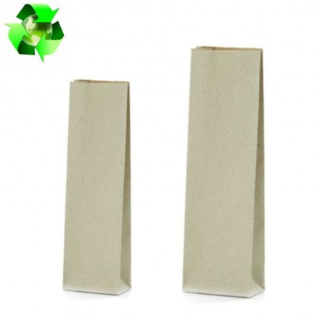 Grass paper bags natural color