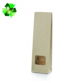 Grass paper bags with window
