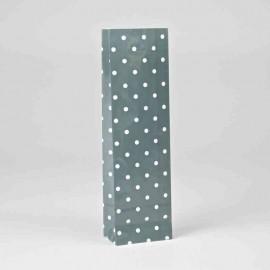Trojvrstvové vrecko sivé s bielymi bodkami